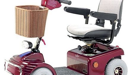 A Sovereign Shoprider mobility scooter was stolen from the home of an elderly woman.