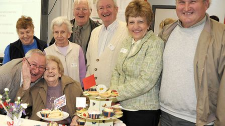 Afternoon Tea at Neale-Wade Academy, Residents from Elliott Lodge retirement home.