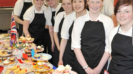 Afternoon Tea at Neale-Wade Academy, Year 10 GCSE students who baked and prepared the tea.