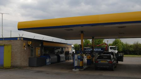 The Jet petrol station, on the A10 Ely Bypass.