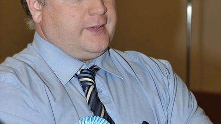 Cambridgeshire County Council election count at the Hudson Leisure Centre, Wisbech. Cllr Steve Tiern