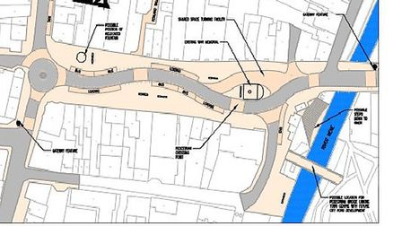 The proposed alternative layout for Broad Street