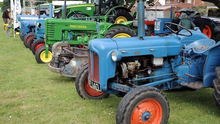 Vintage tractors were on show at the 5oth Gorefield Show