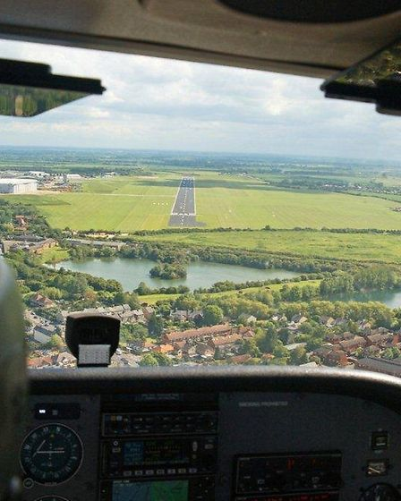 Cambridge Airport viewed from abve