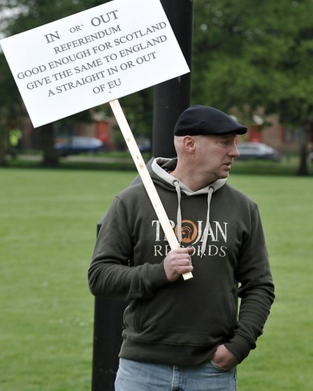 Immigration Demonstration in Wisbech park. Picture: Steve Williams.