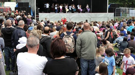 Crowds enjoy the music and dance in West End at the March Summer Festival