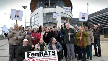 FenRATS protest at the Boathouse in Wisbech.