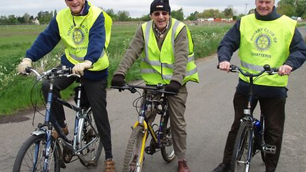 Rotary Club of Chatteris - Pedal Power for the Disabled. left: Donald Ashmore, Rotary Club President