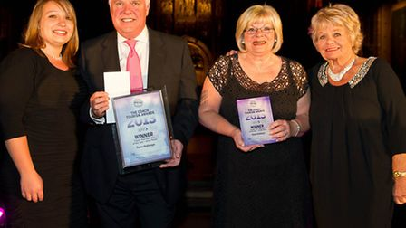 Peter and Margaret Fenn, directors of Fenn Holidays, with the award