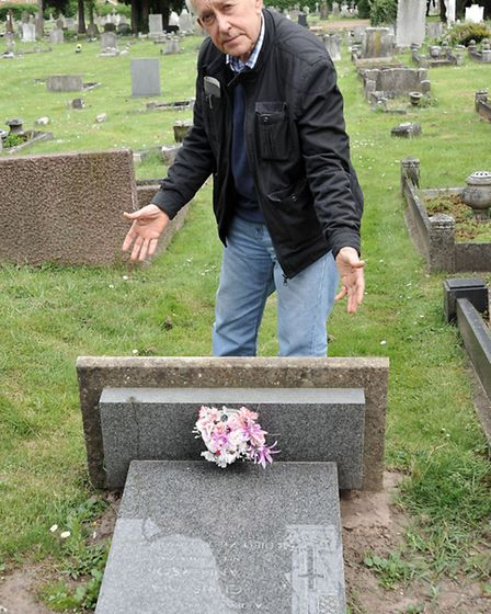 Mount Pleasant cemetery. Wisbech. John Sanderson next to one of his parents graves.
