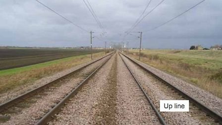 The area of rail line where the accident happened