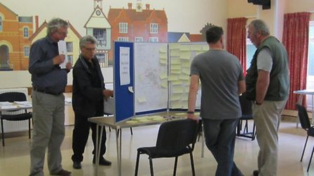 Over 300 residents turned out for the exhibition on Saturday