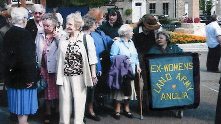 This Ex-Women's Land Army Anglia banner may have been mistakenly mixed with car boot stock in the Ma