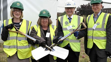 Roddons starts work on new homes at Acacia Avenue, Wisbech. Left: Jenny Hodson managing director for