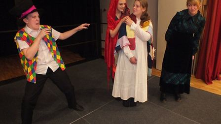 Students rehearsing for the Act Student Company's production of Into The Woods.
