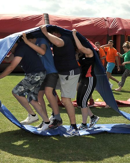 Wisbech St Mary It's a Knockout competition. Picture: Steve Williams.