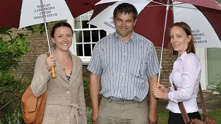 Cllr Rob Skoulding with FDC staff members Amy Wilson and Vicki Whittingstall.