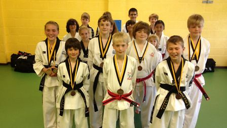 Ely fighters who took part in the Midlands Championships