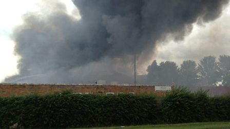 A massive fire has broken out at an industrial park in Stretham