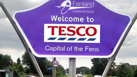 Welcome to tesco sign