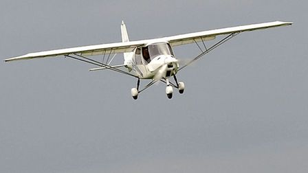 Flying club at Chatteris airfield. Flight in a Microlight.