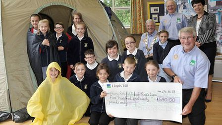 Leverington Primary Academy.The school raised enough money to buy a ShelterBox (a box that contains