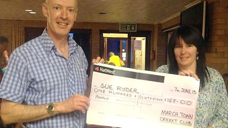 March Town Cricket Club social committee member, Helen Foad held another entertaining charity quiz a