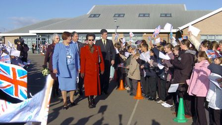Princess Royal in Wisbech in November 2005 when she visited the Orchards school and the Oasis Centre