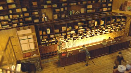 The interior of the model of the shop.
