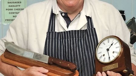 Mick Munden has been a Butcher for 33yrs at Betts, in March and 50 years as a butcher.