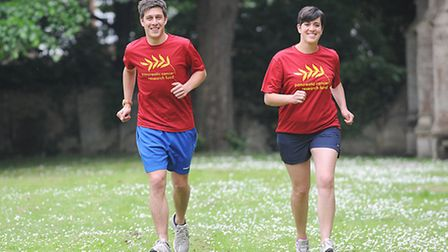 Gavin Caney and his twin sister Kelly King are taking part in a triathlon to raise money for the Pan