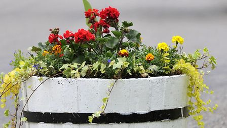 Plant tubs in Benwick.