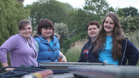 Girl guides from 1st Chatteris enjoy a river boat trip as one of their guiding activities