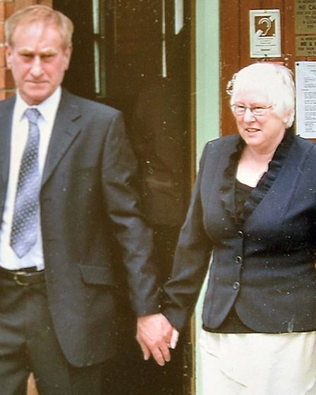 Mr Brown with his wife Annette.