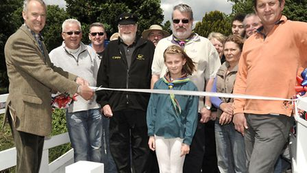 Opening of the refurbished bridge at Benwick. Officially opened by Cllr John Clark.