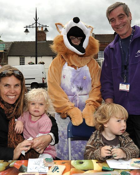 Love Your Local Market campaign. Arty Fox held a free card and badge making stall for Fathers day. L