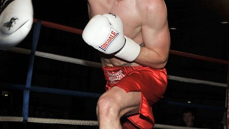 Jake 'The Snake' Dyer from Whittlesey V Newcastle's Didier Blanch. Picture: Steve Williams.