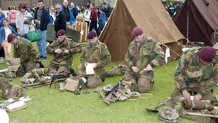 Living history groups demonstrate how Second World War British troops would have prepared for deploy