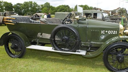 Star of the show, 1918 Vauxhall Motors staff car, as seen in the film War Horse.