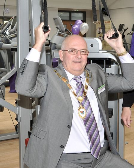 Chatteris Leisure centre opening, Cllr John Chambers.