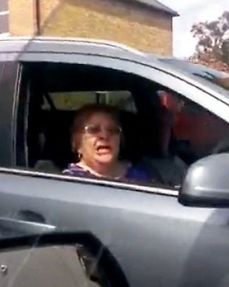 Road rage incident with Florrie Newell. Taken from You Tube video by Steve Fox