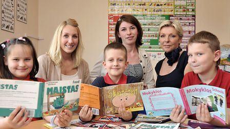 Cousins launch a series of dual language books for eastern european children. Left: Kate Woods, Asta