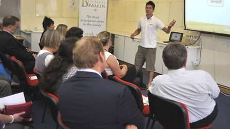 The Ely Standard Business Awards Networking Event, at Mepal Outdoor Centre, Centre Manager Matt Lea