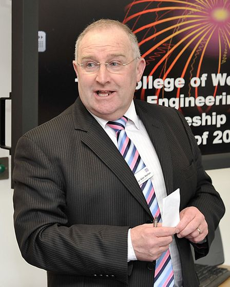 The College of West Anglia Engineering Apprenticeship Awards. Cllr Alan Melton.