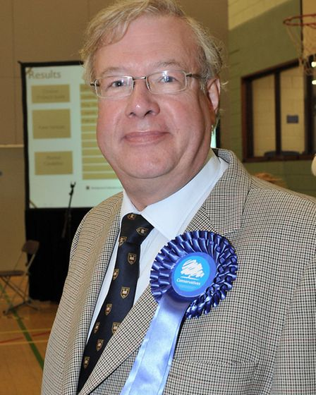 Cambridgeshire County Council election count at the Hudson Leisure Centre, Wisbech. Cllr Simon King