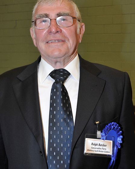 Cambridgeshire County Council election count at the Hudson Leisure Centre, Wisbech. Cllr Ralph Butch