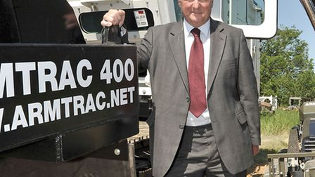 MP Sir Jim Paice's tour of Armtrac manufacturers of mechanical demining equipment for the clearance