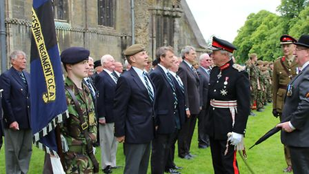 Cambridgeshire Regiment held its annual re-union, luncheon and parade at Ely