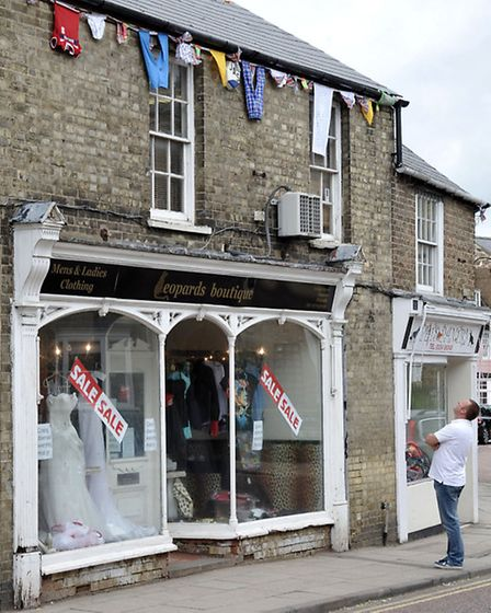 Mark Skerrett with the bunting put up on his Chatteris property.