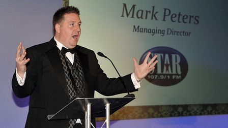 Ely Business Awards 2012. Host for the evening was Mark Peters Managing Director of Star radio.